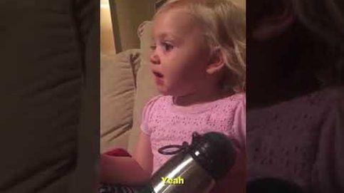 La escena más triste para esta niña