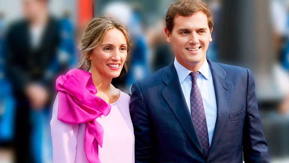 Foto: Beatriz Tajuelo y Albert Rivera, en su última aparición juntos. (Getty)