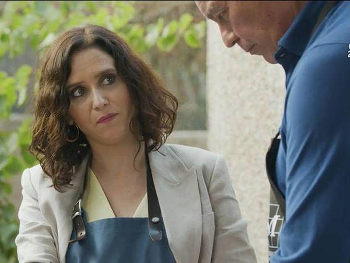 Foto: Isabel Díaz Ayuso, durante la entrevista. (Mediaset)