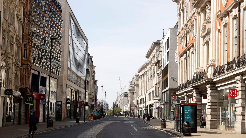 Calles desiertas en el centro de Londres. (Reuters)