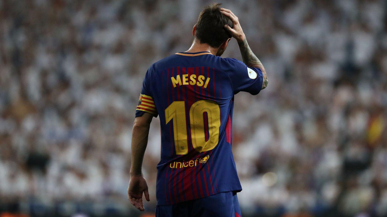 Messi, este miércoles en el Santiago Bernabéu. (Reuters)