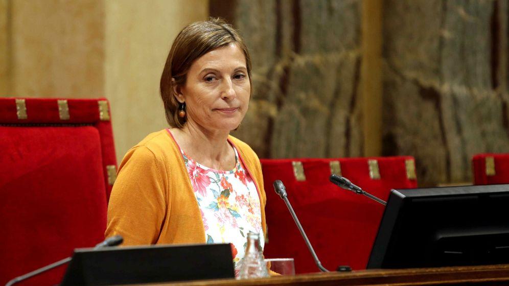 Foto: Carme Forcadell en una foto de archivo cuando era presidenta del Parlament de Cataluña. (EFE)