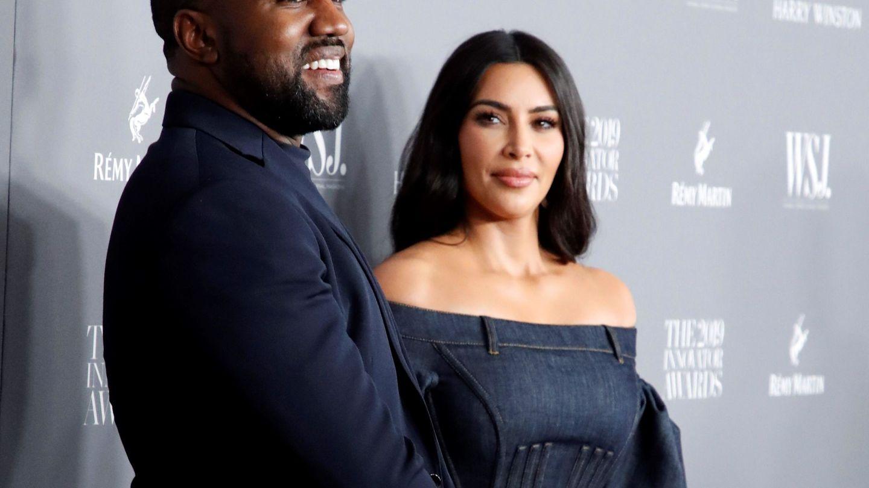Kym Kardashian y Kanye West, en una imagen de archivo.