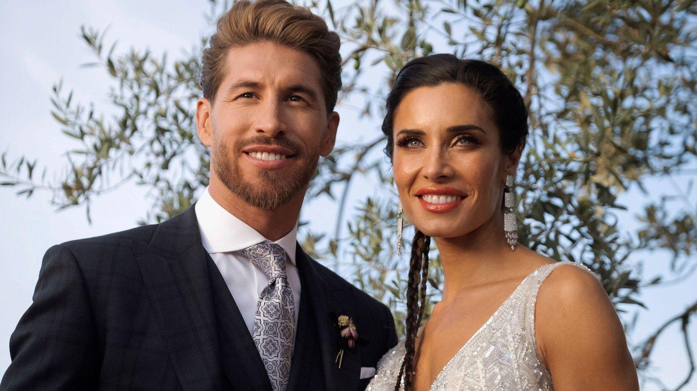 Sergio Ramos y Pilar Rubio, en su enlace. (EFE)