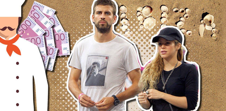 Foto: Piqué y Shakira en un fotomontaje realizado por Vanitatis