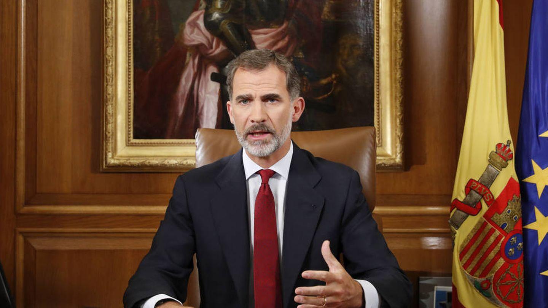 Mensaje del rey Felipe VI a los españoles sobre Cataluña. (EFE)