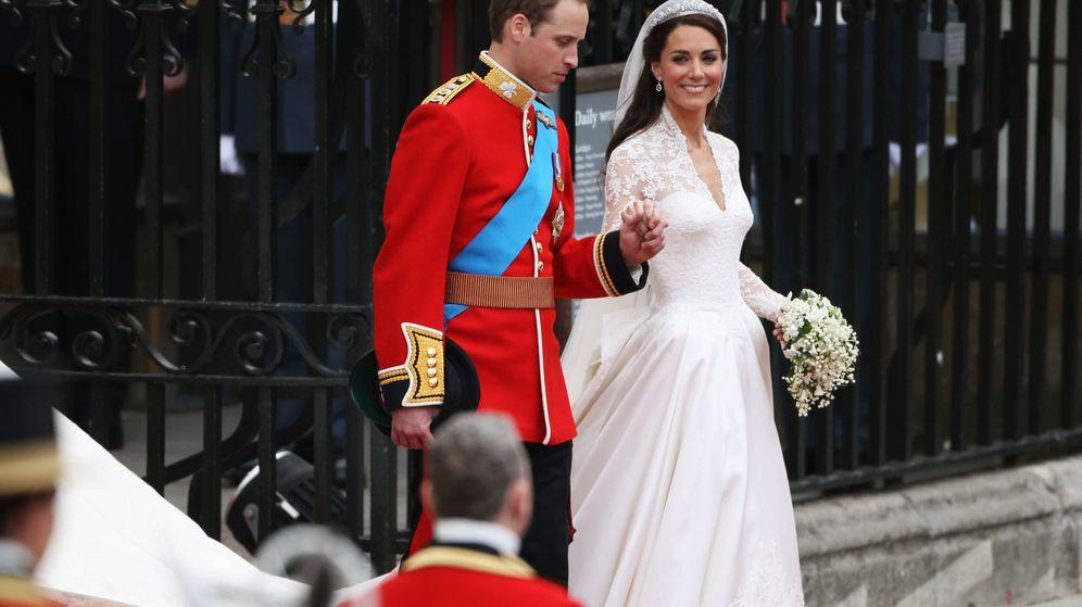 Foto: Los duques de Cambridge, el día de su boda. (Getty)