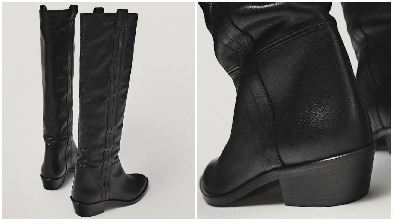 Las botas más cómodas de las rebajas de Massimo Dutti. (Cortesía)