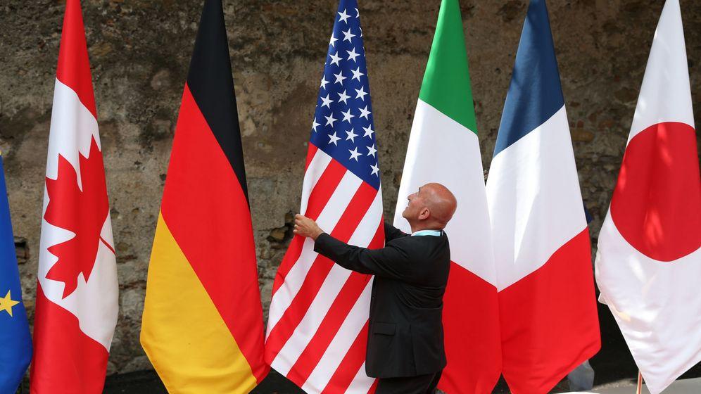 Foto: Banderas del G7 (Reuters)