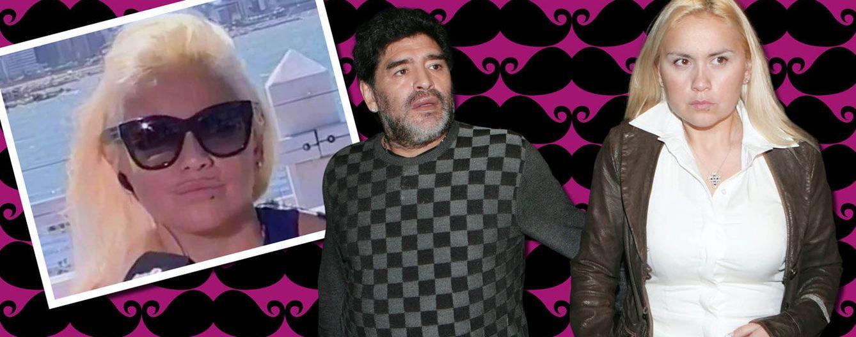 Foto: Verónica Ojeda y Diego Maradona