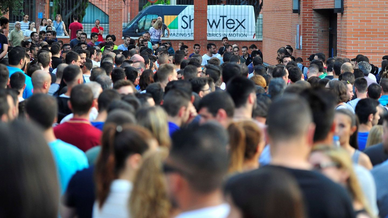 Aspirantes a guardia civil, en las pruebas de acceso en la Universidad Carlos III de Madrid en 2018. (EFE)