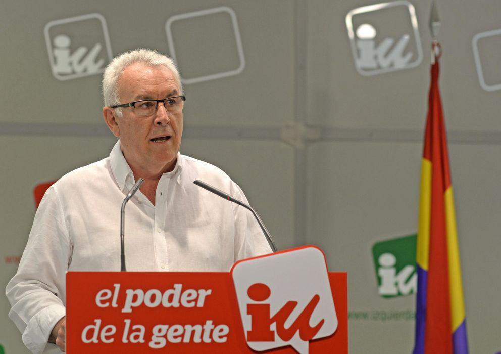 Foto: Cayo Lara, durante la reunión de la Presidencia Ejecutiva Federal de IU. (Efe)