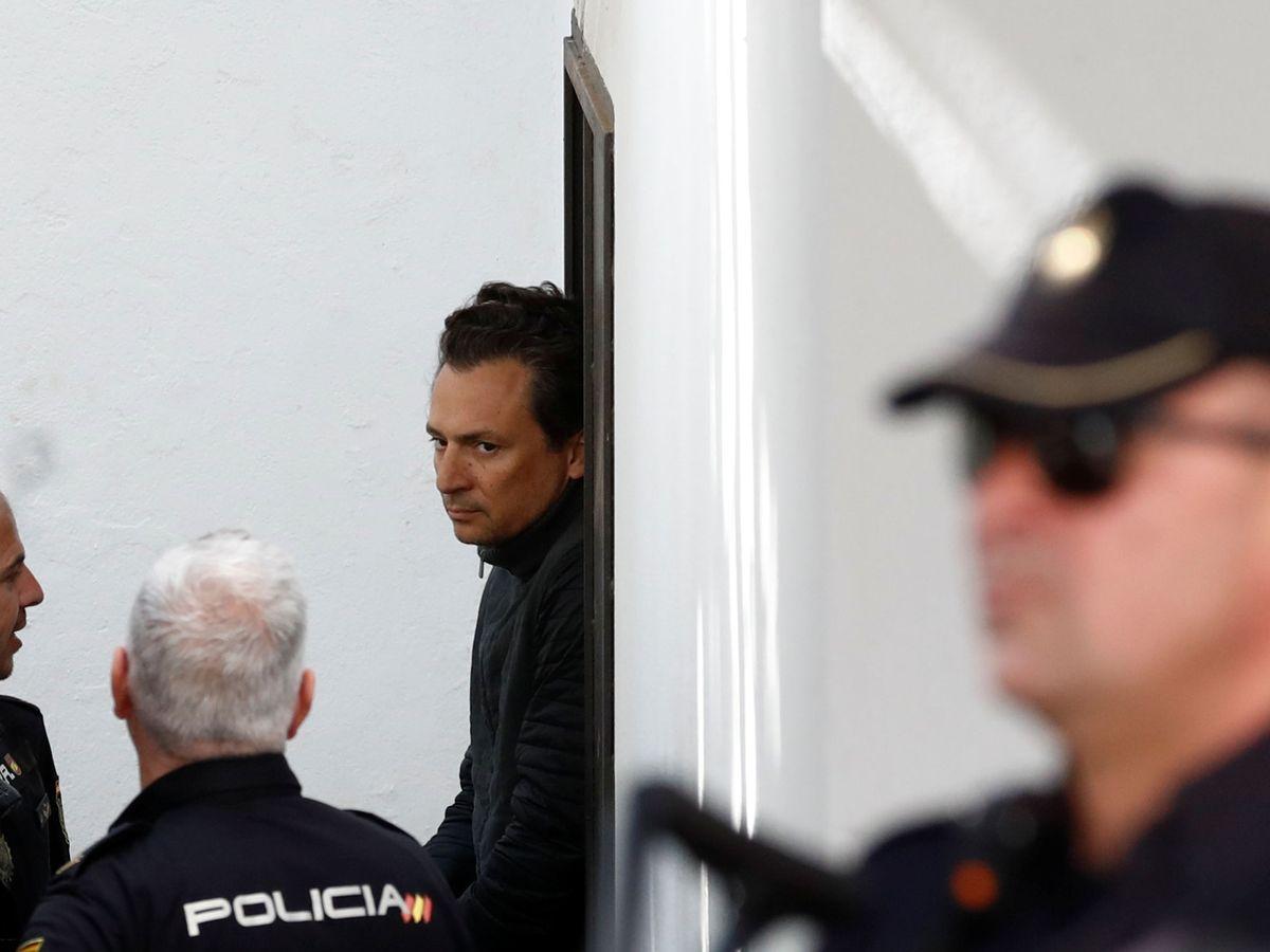 Foto: Emilio Lozoya, tras su detención en España, en febrero. (Reuters)