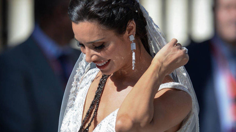 Pilar Rubio durante su boda. (EFE)