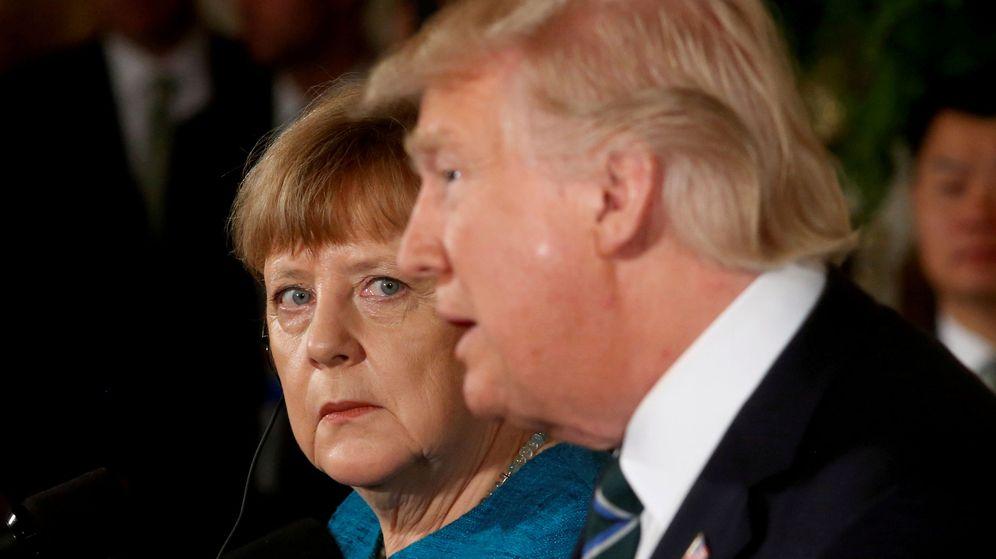 Foto: La canciller alemana, Angela Merkel, y el presidente de EEUU, Donald Trump. (Reuters)