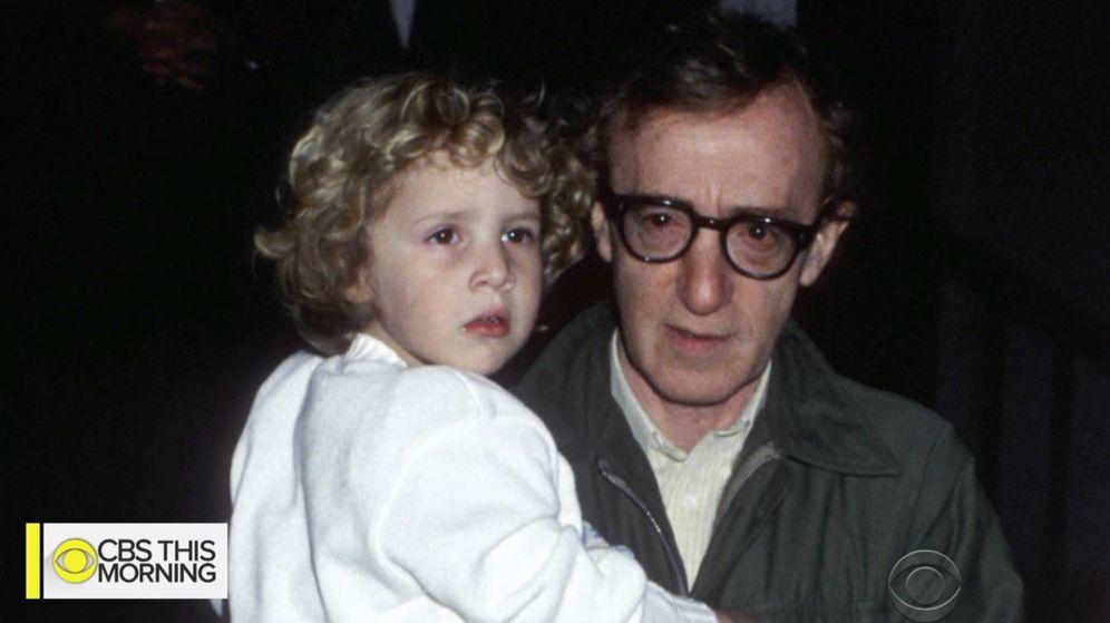 Foto: Dylan Farrow y Woody Allen, en una imagen de archivo. (CBS)