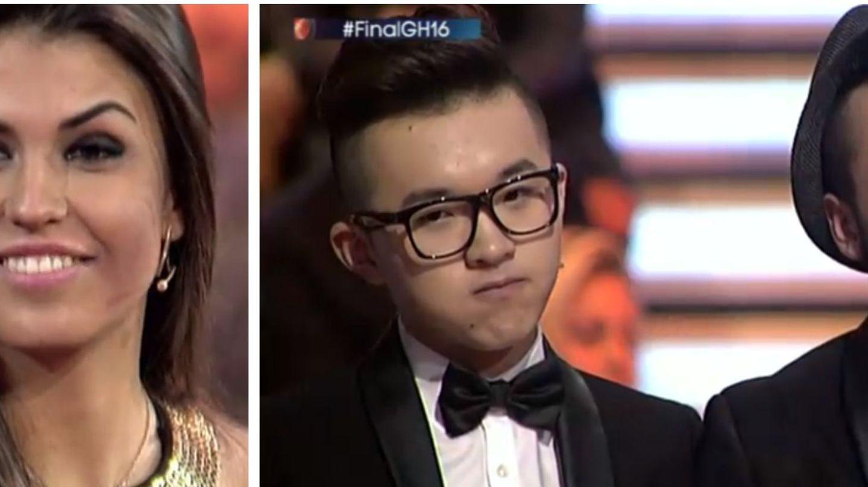 Sofía (ganadora de 'GH 16'), y Aritz y Han.