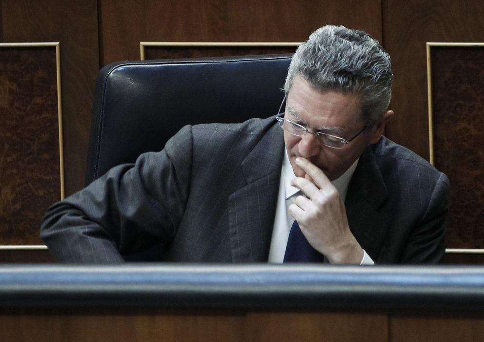 Foto: El Ministro de Justicia, durante el pleno del Congreso de los diputados