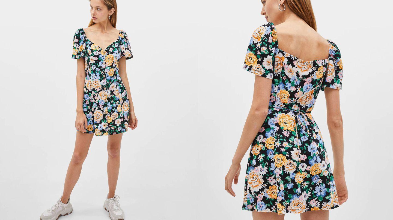 Nos encanta este vestido de Bershka. (Cortesía)