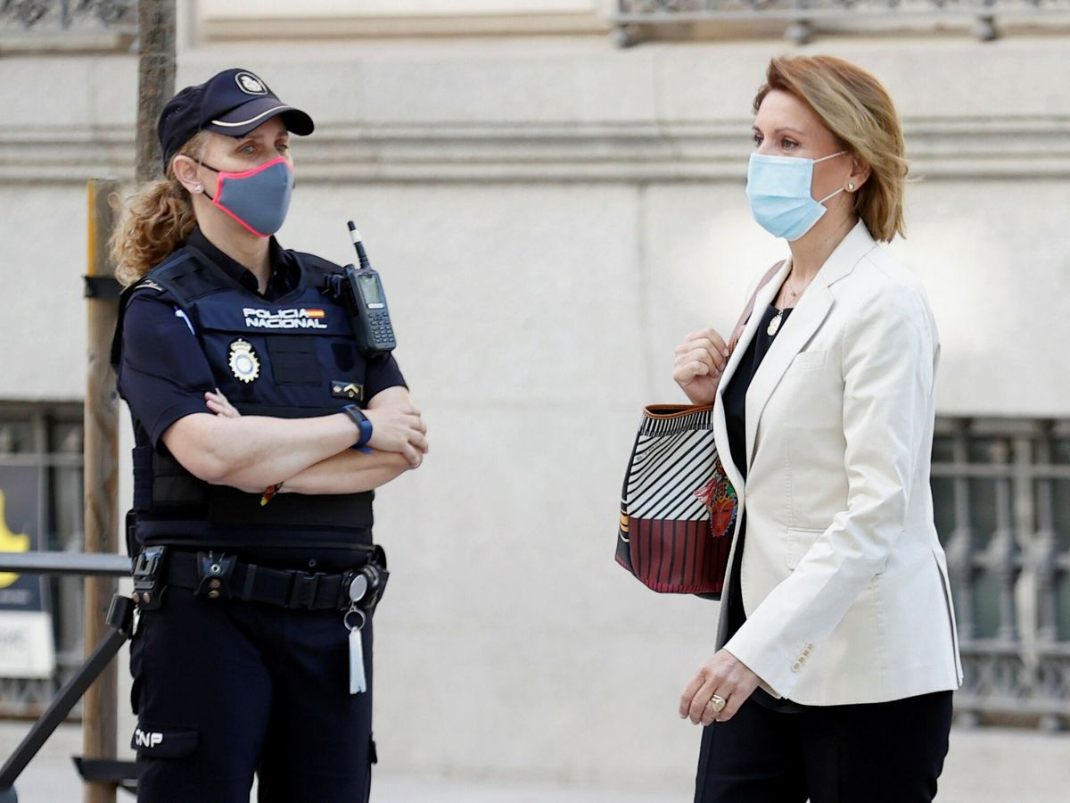 Foto: Cospedal declara en la Audiencia Nacional como imputada en el caso Kitchen. (EFE)