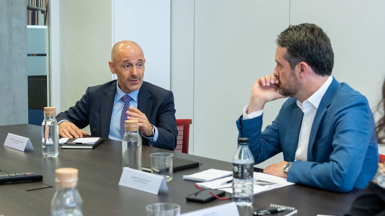 Fernando López de los Ríos, Banco Sabadell, y Jeffrey Sújar, CEO de Syllabus by Urbania.