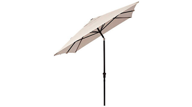 Parasol rectangular de aluminio / acero NATERIAL Avea marrón 200x300 cm