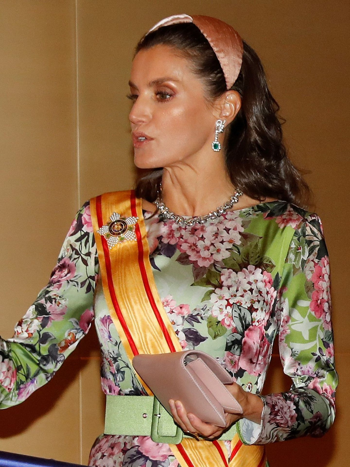 La reina Letizia, con la diadema de Nana Golmar. (EFE)