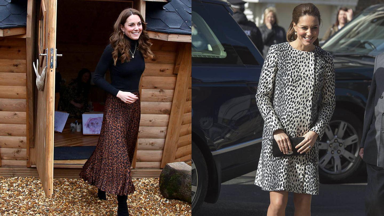 Kate Middleton viste animal print. (Getty)