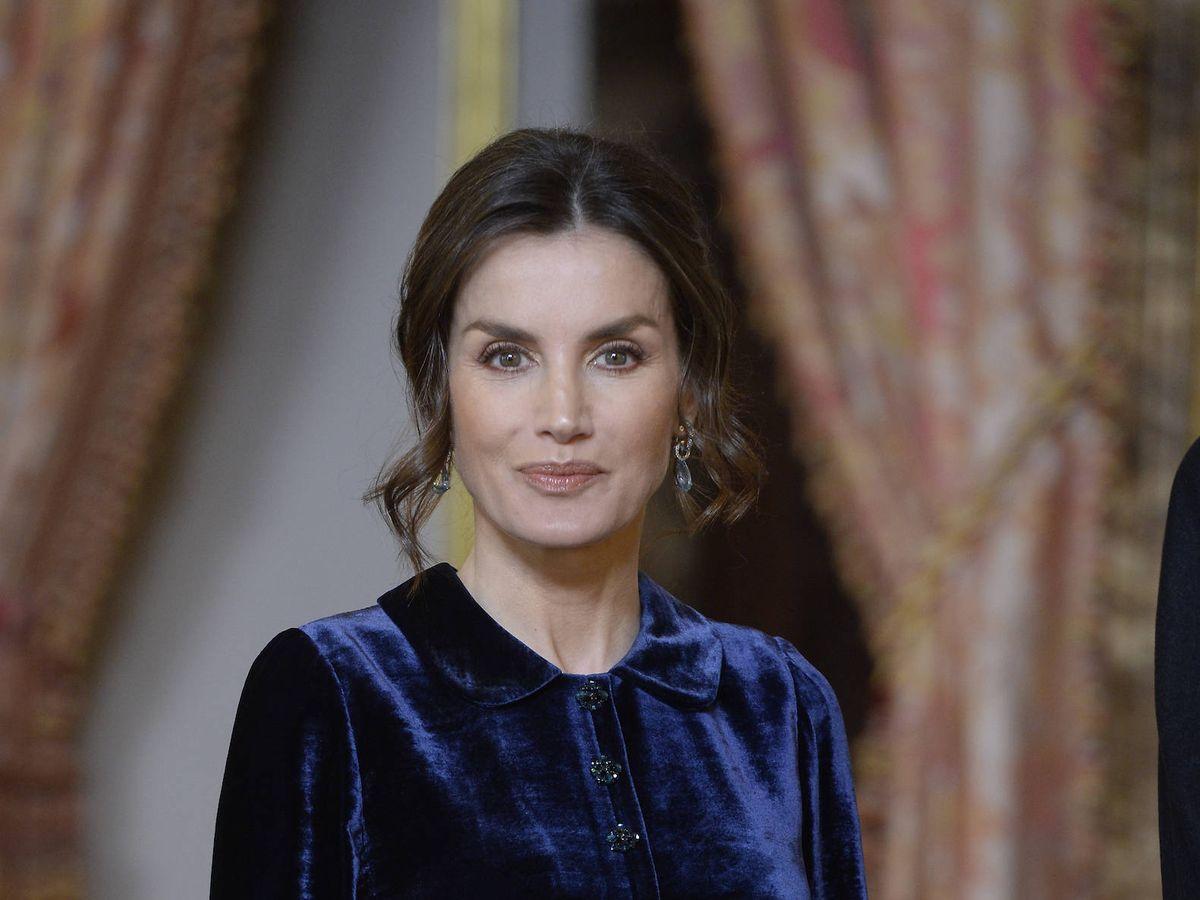 Foto:  La reina Letizia, en la recepción al cuerpo diplomático. (LP)