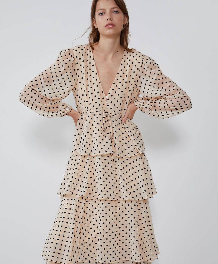 tecnicas modernas amplia selección de diseños precio bajo Así es el vestido de lunares de Zara que más verás este ...