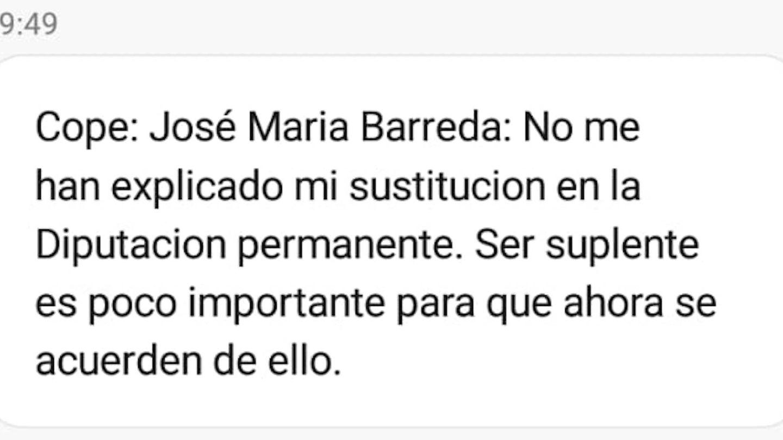 El SMS que Moncloa ha enviado a los periodistas este viernes.