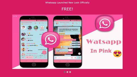 Cuidado con descargar WhatsApp en rosa:
