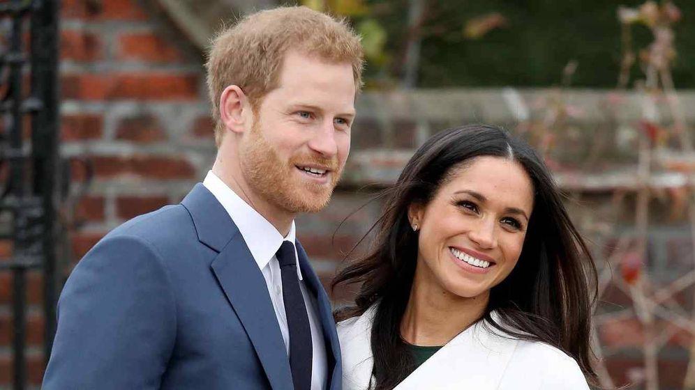 Foto: El príncipe Harry y su prometida Meghan Markle. (Telemadrid)