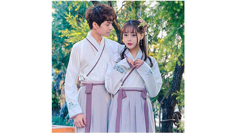 Disfraz Hanfu de antigua vestimenta china para parejas