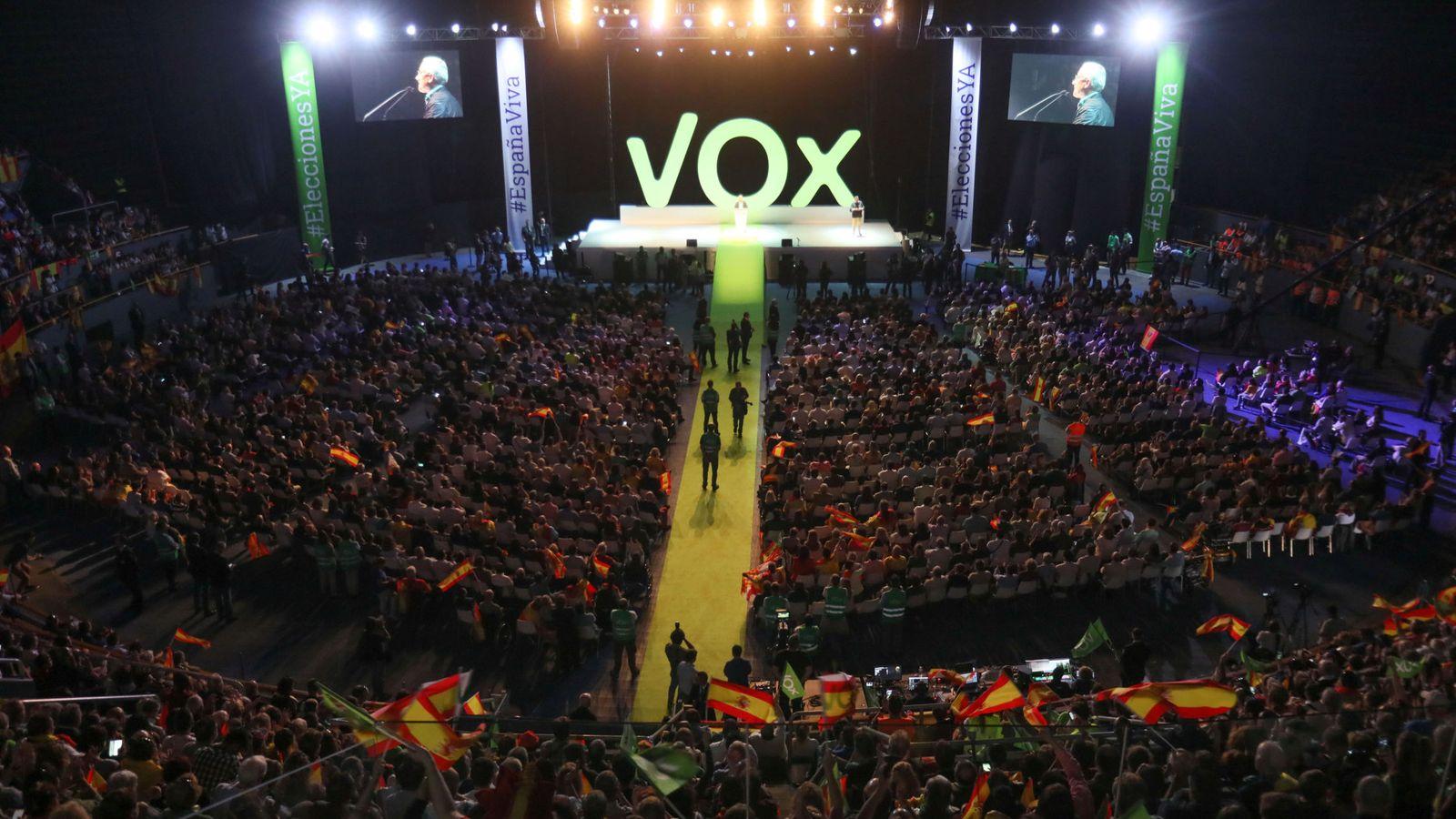 Foto: Acto público de Vox en Vistalegre el 7 de octubre de 2018. (Reuters)