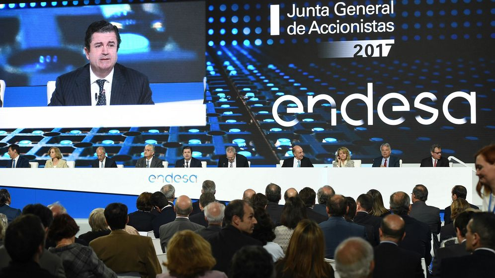 Foto:  El presidente de Endesa, Borja Prado, durante la junta de accionistas de la compañía que se celebra en Madrid. (EFE)