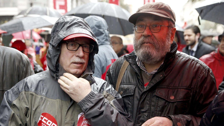 Cándido Méndez (d) e Ignacio Fernández Toxo (i), secretarios generales de UGT y CCOO. (Efe)