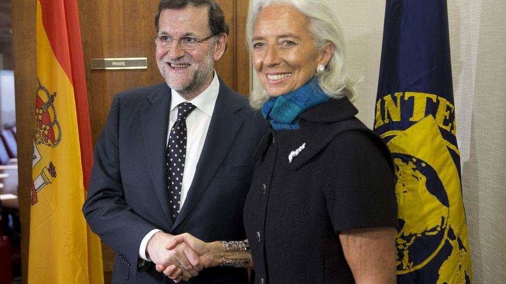 Foto: Mariano Rajoy, junto a la presidenta del FMI, Christine Lagarde (EFE)