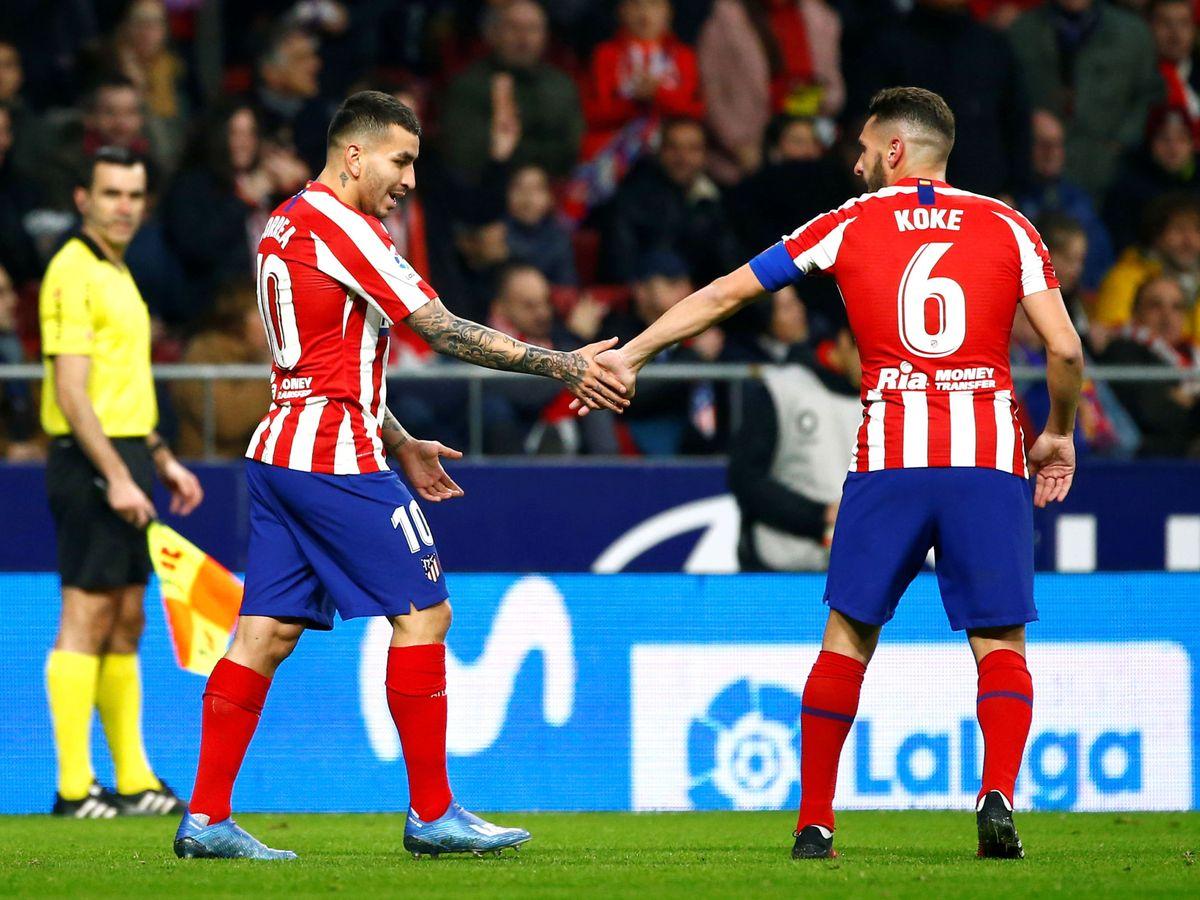 Foto: Ángel Correa (i) y Koke fueron los dos mejores del Atlético de Madrid en la victoria ante el Granada. (Reuters)