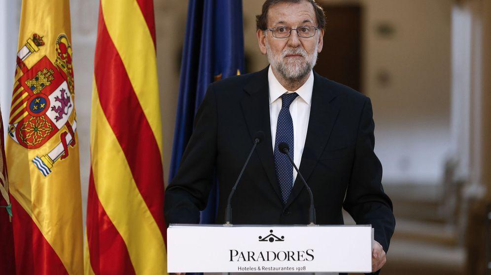 Foto: El presidente del Gobierno, Mariano Rajoy, este jueves durante la inauguración de un parador en Lérida. (Efe)