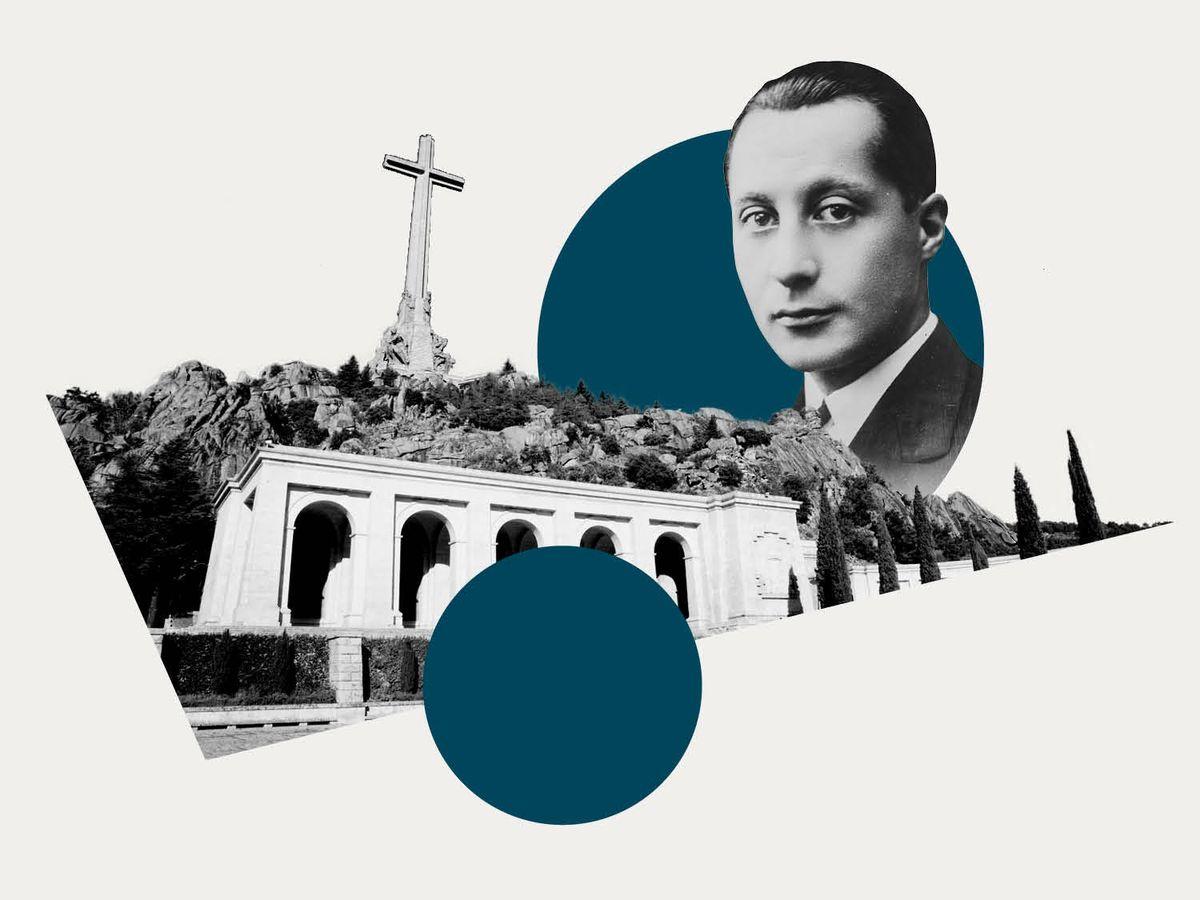 Foto: Primo de Rivera y el Valle de los Caídos. (Ilustración: Vanitatis)