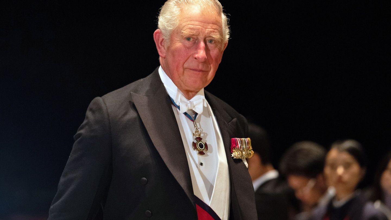El príncipe Carlos, en la cena de gala por la entronización de Naruhito. (EFE)