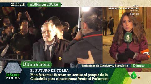 Quim Torra huye de 'La Sexta noche' para darse un baño de masas en TV3
