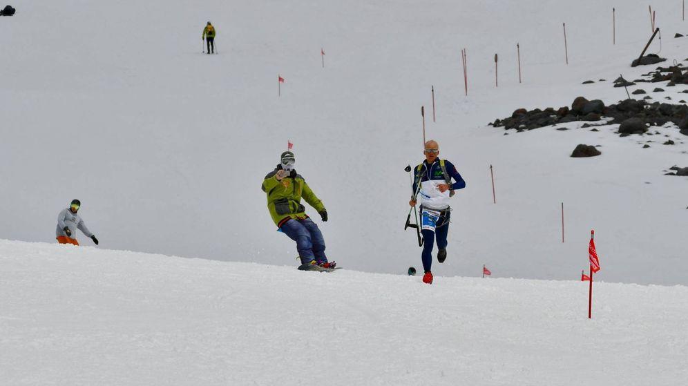 Foto: Karl Egloff enfilando los últimos metros del Elbrus.