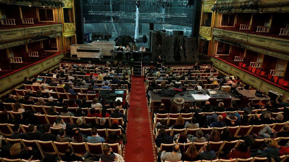 Foto: Concentración de trabajadores de la cultura en Madrid el pasado mes de marzo. (EFE)