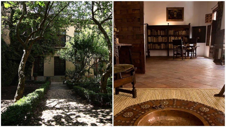 Jardín y despacho de su casa en Madrid. (Casa-Museo Lope de Vega)