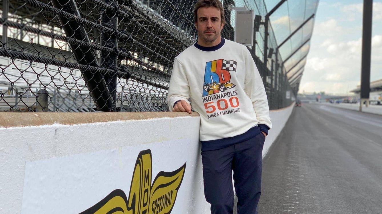 Foto: Fernando Alonso, en el circuito de Indianápolis. (@alo_oficial)