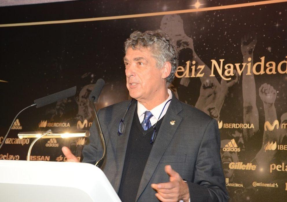 Foto: Ángel María Villar, en el discurso de Navidad (Foto: RFEF).