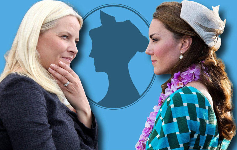 Foto: Mette-Marit de Noruega y la duquesa de Cambridge en un fotomontaje (Vanitatis)