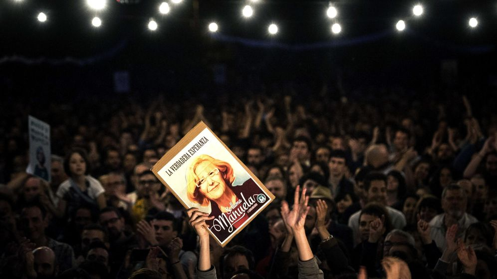 Foto: Acto de cierre de campaña para las elecciones municipales de Ahora Madrid. (EFE)